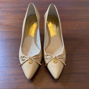Michael Kors Nude Heels with Bow Size 8